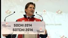 Canada's Men's Olympic Ice Hockey Team head coach Mike Babcock speaks during a news conference in Toronto January 7, 2014. Hockey Canada revealed the roster for the men's ice hockey team it will send to the Sochi Winter Olympics to defend the gold medal won on Sidney Crosby's golden goal four years ago in Vancouver. (Aaron Harris/REUTERS)