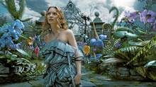 Mia Wasikowska is Alice in the Tim Burton film Alice in Wonderland. (©Disney Enterprises, Inc. All Rights Reserved.)