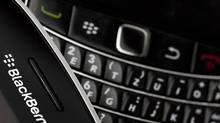 Research In Motion (RIM) BlackBerry smartphone handsets (VALENTIN FLAURAUD/REUTERS)