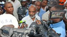 Haitian President Rene Preval speaks to the press in Port-au-Prince this week: Can anything be achieved given Haiti's political culture, a culture defined by distrust, betrayal, corruption and violence? (ALEX OGLE/Alex Ogle/AFP/Getty Images)