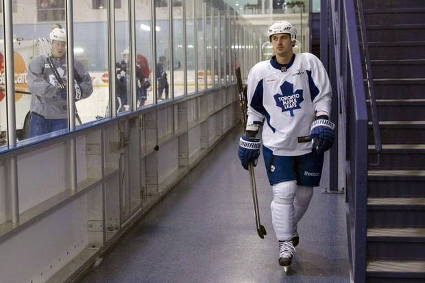 Dave Bolland with the Toronto Maple Leafs in 2013.