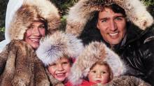 Liberal MP Justin Trudeau poses with his family on his annual Christmas card. (Adrian Wyld/THE CANADIAN PRESS)