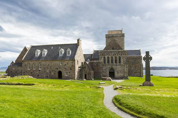 Iona Abbey was a focal point for the spread of Christianity throughout Scotland and marks the foundation of a monastic community by St. Columba.