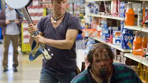 Tallahassee (Woody Harrelson) prefers to kill zombies with automatic rifles, but sometimes he has to improvise.
