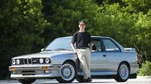 Author Vincent Lam and his BMW M3. (Kevin Van Paassen/The Globe and Mail)