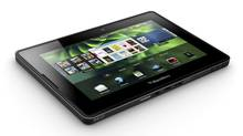 The upcoming BlackBerry PlayBook is shown in this photo made available on Tuesady March 22, 2011. (HO/THE CANADIAN PRESS)