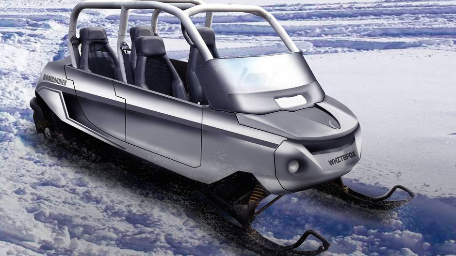A Four Seat Snowmobile For Adventures With Your Kids The