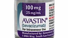 This undated photo provided Jan. 31, 2011, by California-based Genentech Inc., shows the blockbuster cancer drug Avastin. (Anonymous/AP)