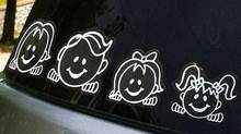 There are a few reasons to avoid stick people stickers on your car. (The Globe and Mail)