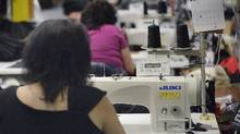 RBC's monthly purchasing managers index for the Canadian manufacturing sector declined in January, remaining in positive territory but continuing a downward trend. (Fred Lum/The Globe and Mail)