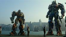 "This photo released by Paramount Pictures shows a scene from, ""Transformers: Age of Extinction."""