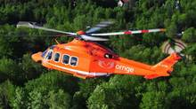 An Ornge helicopter of Ontario's air ambulance service is shown in a handout photo. (THE CANADIAN PRESS)