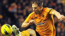 Wolverhampton Wanderers' Scottish defender Christophe Berra jumps for the ball during an English Premier League football match against Sunderland at the Molineux Stadium in Wolverhampton on December 4, 2011. Getty Images/BEN STANSALL (BEN STANSALL/Getty Images)
