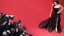 "Actress Angelina Jolie arrives on the red carpet for the screening of the film ""The Tree of Life"", by director Terrence Malick, in competition at the 64th Cannes Film Festival, May 16, 2011. (CHRISTIAN HARTMANN/REUTERS)"
