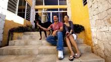 Joel Khawly and wife Sheila Khawly outside the home they built in Jacmel. (Deborah Baic/Deborah Baic/The Globe and Mail)