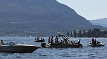 Boaters enjoy a sunny day on Shuswap Lake in B.C.'s interior. (Jeff Bassett for The Globe and Mail)