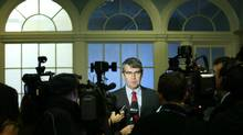 Stephen McNeil holds his first news conference as Nova Scotia's premier-designate at Province House in Halifax on Oct. 9, 2013. (PAUL DARROW FOR THE GLOBE AND MAIL)