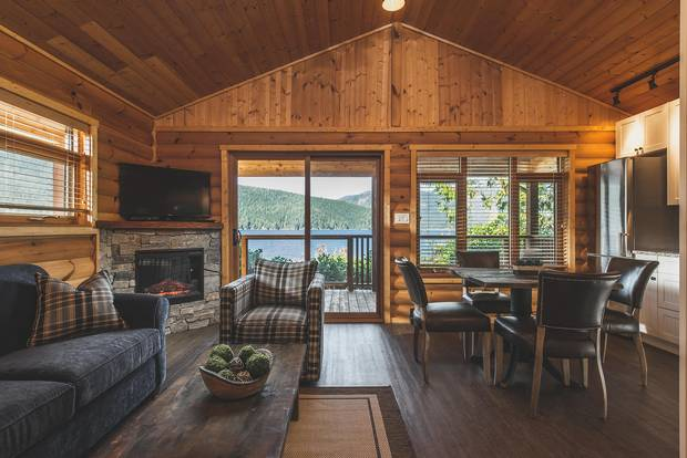 A cottage at Wild Renfrew offers a view of the Port San Juan reach of the Pacific Ocean.