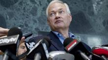 Donald Fehr, Executive Director of the NHPLA, speaks with the press following talks with the NHL in Toronto on Thursday, August 23, 2012. (The Canadian Press)