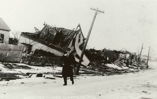 Destroyed homes on Campbell's Road in Halifax.