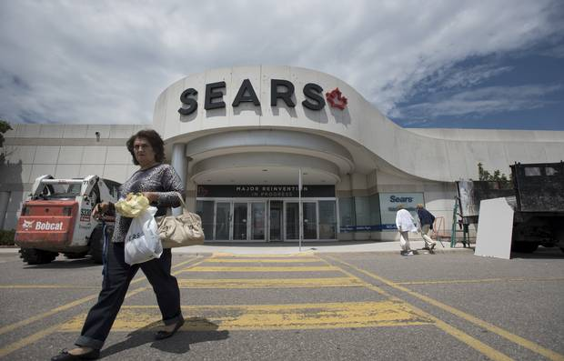 The Sears Canada store located at the Erin Mills Town Centre in Mississauga, Ont., is shown on June 22, 2017.