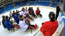Team Canada practices before the 2014 Paralympics in Sochi, Russia. The team is looking for gold after missing the podium in Vancouver in 2010. (Matthew Murnaghan/Canadian Paralympic Committee)
