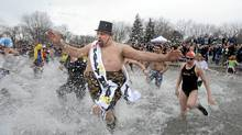 Over 500 people brave the cold waters of Lake Ontario as they take part in the 25th anniversary Courage Brother's Polar Bear Dip for World Vision (Fred Lum/The Globe and Mail/Fred Lum/The Globe and Mail)