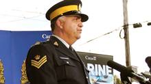 Sgt Mark Gallagher speaks to the media during a news conference in Halifax, N.S., in this Sept. 2008 file photo. (The Canadian Press)