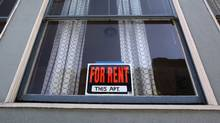A sign advertising an apartment for rent. (Justin Sullivan/Getty Images)