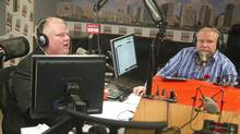 Toronto Mayor Rob Ford (L) and his brother Doug on the Ford's weekly radio show at News Talk 1010 in Toronto November 3, 2013. (FRED THORNHILL/REUTERS)