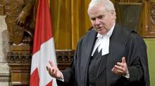 Speaker Peter Milliken addresses the House of Commons after on Oct. 21, 2009. (Sean Kilpatrick/The Canadian Press)