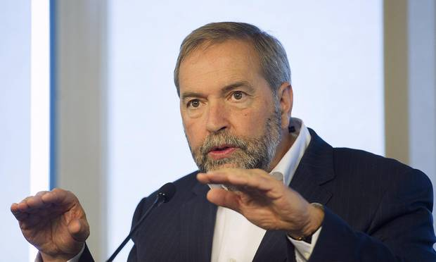 Thomas Mulcair, the NDP Leader, criticized Stephen Harper for focusing his comments this week on highlighting the importance of Canada's bombing campaign in Syria.