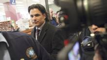 Senator Patrick Brazeau leaves a Gatineau courthouse after a court appearance February 8, 2013. (Dave Chan for The Globe and Mail)