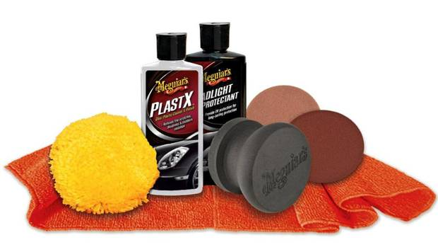 Meguiars Heavy Duty Headlight Restoration Kit: For the dad whose vehicle truly is one of his babies, this headlight kit is designed to bring back the clarity from headlights that have become oxidized or yellowed over time. (Meguiars)