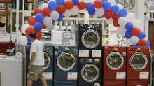 U.S. durable goods orders rose less than expected in February. (M. Spencer Green/AP)
