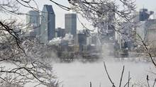 Ice fog on the St. Lawrence River in -25 C weather in Montreal. Natural gas prices have surged this winter. (Paul Chiasson/THE CANADIAN PRESS)
