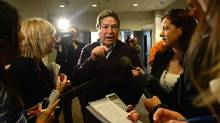 Grand Chief Gordon Peters speaks to reporters following a meeting with Ontario Chiefs in Ottawa on Friday, January 11, 2013. (Sean Kilpatrick/THE CANADIAN PRESS)