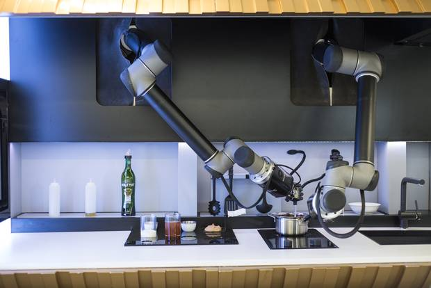 The latest development in artificial intelligence as it relates to food prep is Moley, a robotic chef that can make 100 different meals.
