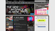 MySpace's new homepage