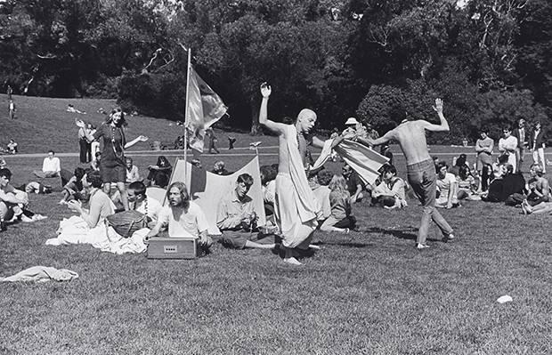 Hare Krishna Dance in San Francisco's Golden Gate Park in 1967.