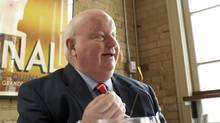 Former broadcaster and Tory Senator Mike Duffy gives an interview in Toronto in January of 2007 (Ryan Carter/Ryan Carter/The Globe and Maill)