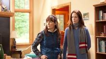 This film image released by IFC Films shows Rosemarie DeWitt, left, and Emily Blunt in a scene from Your Sister's Sister. (Tadd Sackville-West/AP)