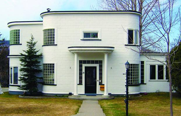 One of W. George Smith's two Streamlined Moderne houses in Corner Brook, N.L.