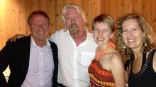 Richard Branson with Mark Thompson, his daughter, Vanessa Thompson, and his wife, Bonita Thompson, taken in August, 2013, in Utah.