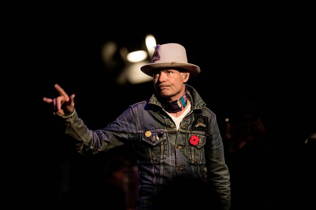 Gord Downie takes the stage at the 2016 Dream Serenade.