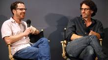 Ethan Coen and Joel Coen visit the Apple Store Soho on September 22, 2009 in New York City. (Astrid Stawiarz/2009 Getty Images)