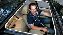 Home renovation expert Scott McGillivray is driving his third BMW 3-Series car. (Deborah Baic/The Globe and Mail)
