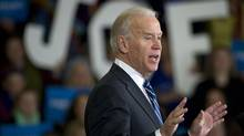 Vice President Joe Biden speaks at a rally in Cleveland, Sunday November 4, 2012. (Kevin Van Paassen/The Globe and Mail)