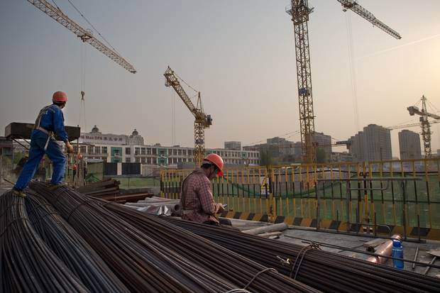 A construction site in Beijing, seen on April 15, 2016.