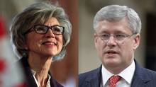 Chief Justice Beverley McLachlin, left, has been targeted for attack by Prime Minister Stephen Harper, prompting grave concern from the legal community.